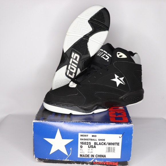 1d60ba46bb72 Vintage New Converse Merit Mid Basketball Shoes